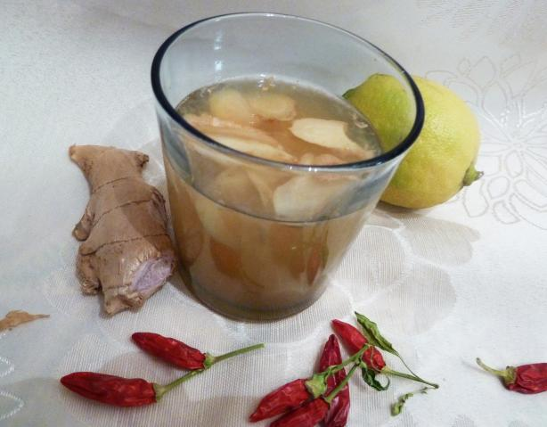 Lemon-Ginger Cayenne Tea. Photo by awalde