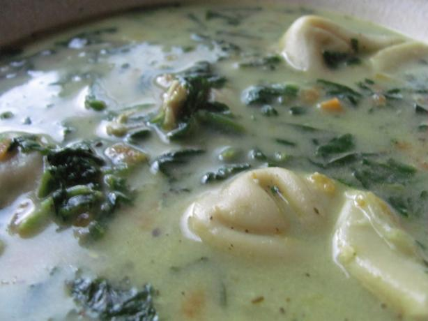 Creamy Chicken, Spinach and Tortellini Soup. Photo by under12parsecs