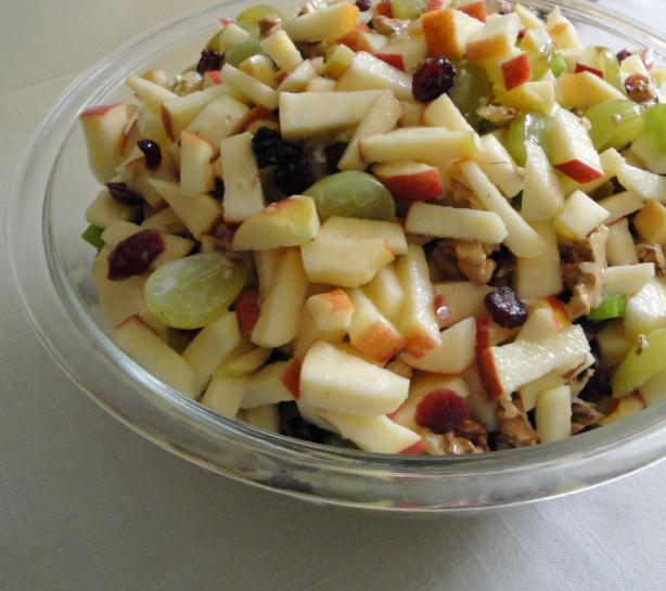 Cranberry Waldorf Salad. Photo by Debbwl