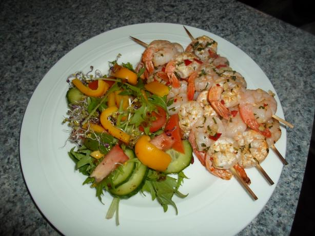 Kaylenes Prawn Skewers. Photo by Kiwi Kathy