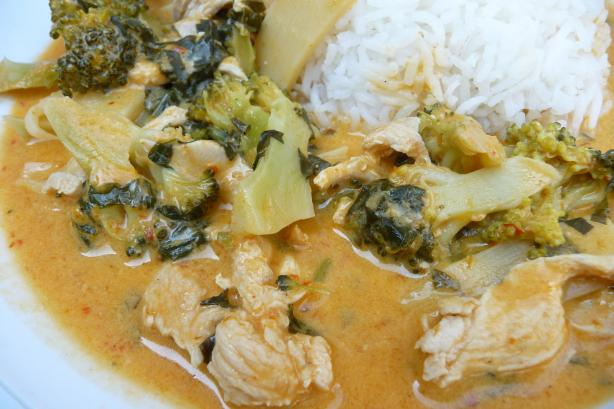 Chicken and Broccoli Thai Curry. Photo by Tea Jenny