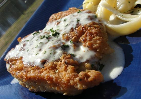 Lemony Pork or Chicken Scaloppine With Lemon Cream Sauce. Photo by diner524