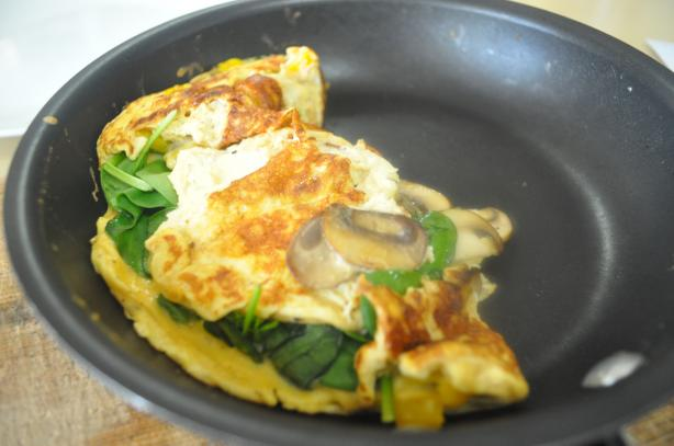 German Spinach Omelet. Photo by I'mPat