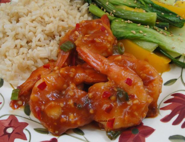Chilli Honey and Garlic Prawns. Photo by Debbwl