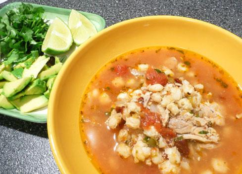 Chipotle Chicken Posole. Photo by Mikekey