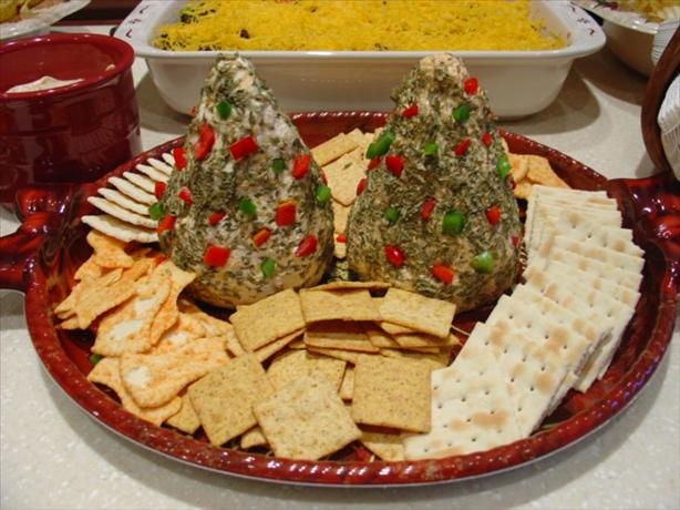 Appetizer Cheese Trees or Snowmen. Photo by Crimson