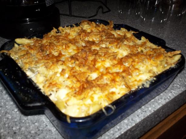 Cheesy Leftover Ham Casserole. Photo by PSU Lioness