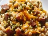 Deluxe Mac &amp; Cheese With Ham and Peas