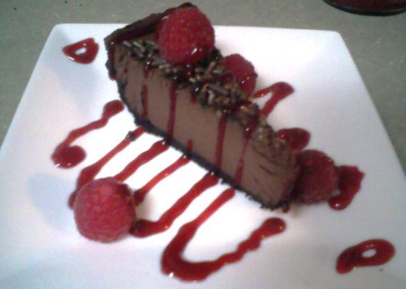 Healthy Dark Chocolate Torte (Pie). Photo by Kathi Ann