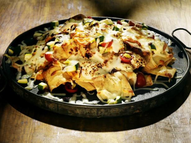 Mediterranean Nachos. Photo by Sabra Recipes