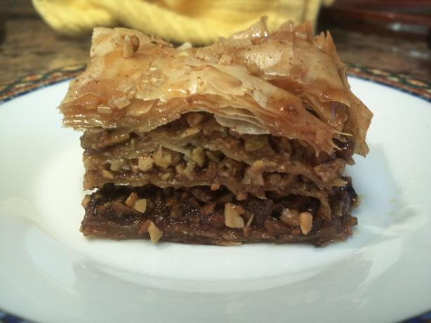 Baklava - Orange/Pomegranate Honey Syrup. Photo by BekaWild