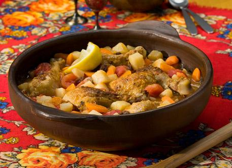 Slow Cooker Moroccan-Style Chicken & Potato Stew. Photo by Simply Potatoes®