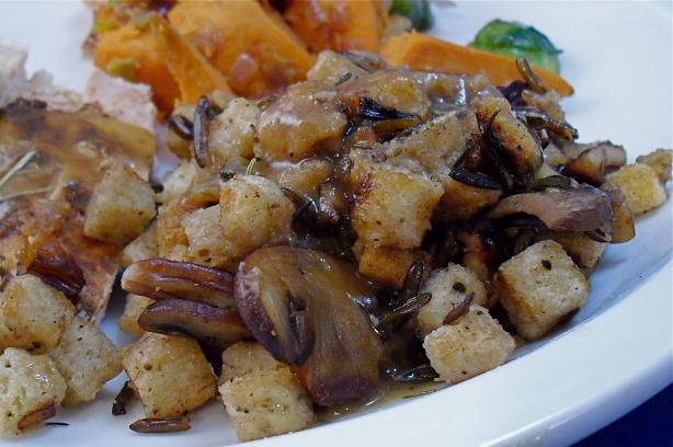 Wild Rice Mushroom Stuffing. Photo by PaulaG