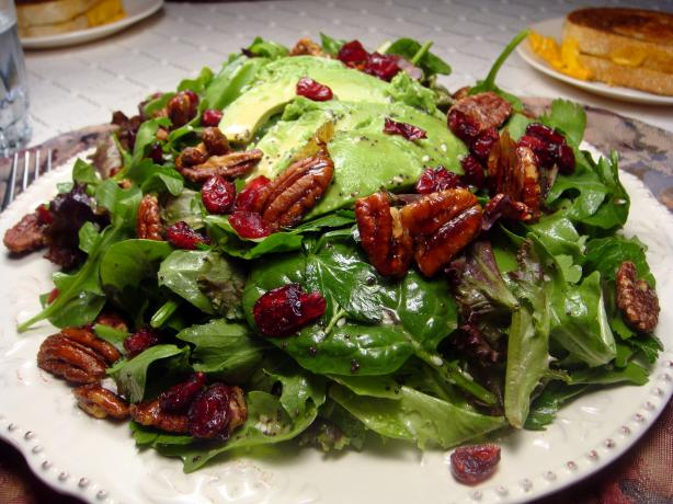 Cranberry Avocado Salad W/Sweet Balsamic Vinaigrette. Photo by Lori Mama
