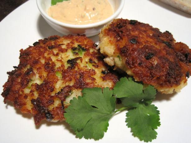 Spicy Cod Cakes With Chipotle Sauce. Photo by Sandi (From CA)