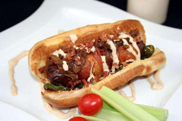 The Rico - Bacon Wrapped Hot Dog. Photo by **Tinkerbell**