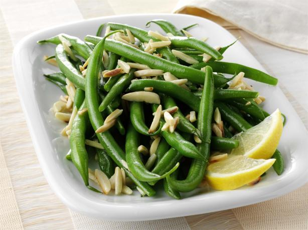 Green Beans Almondine. Photo by Fisher Nuts