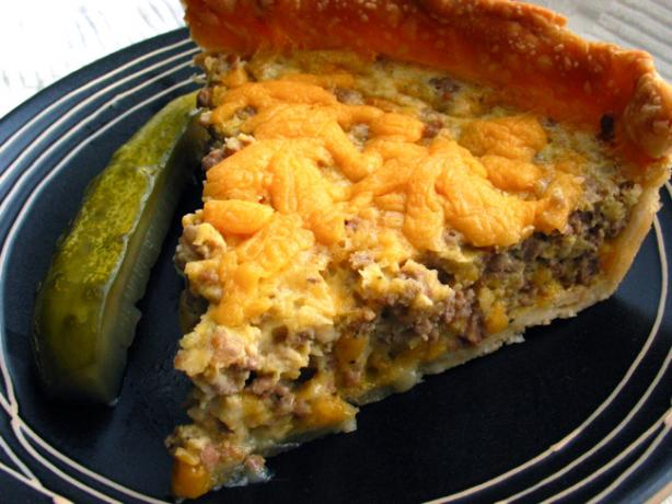 Cheeseburger Quiche. Photo by flower7