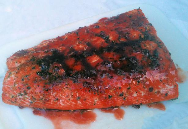 Raspberry Chipotle Grilled Salmon- so Easy--. Photo by Mama&#39;s Kitchen (Hope)