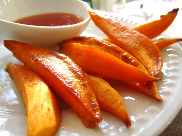 Agave Roasted Sweet Potatoes - Vegan. Photo by gailanng