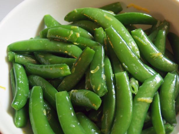 Lemony Snap Peas With Variations. Photo by TattooedMamaof2