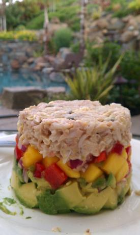 Crab Avocado Mango Stack. Photo by calidream7