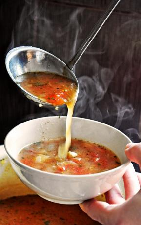 Hearty Veggie Soup – Perfect for Cold Winter Days!. Photo by gourmandelle