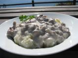 Hamburger Gravy over Mashed Potatoes