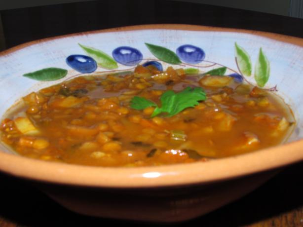 Curry Potato Lentil Soup. Photo by Chef 1086570  pigpurple
