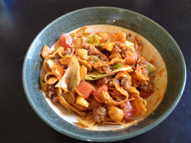 Corn Chip Taco Salad. Photo by Lisa Hayward