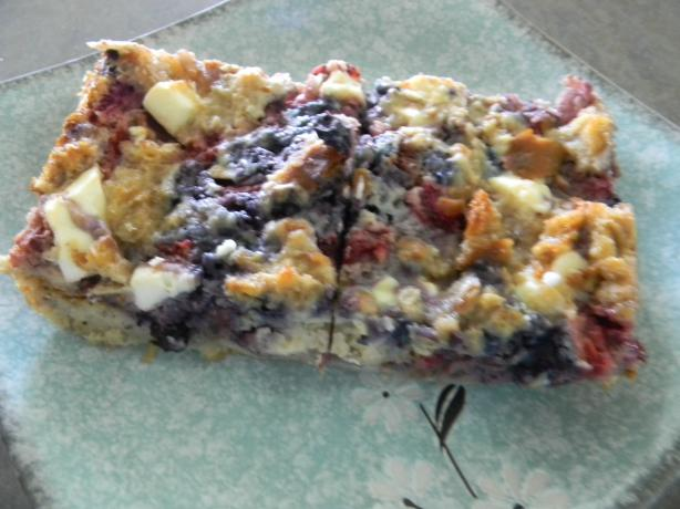 Blueberry Strata. Photo by Montana Heart Song