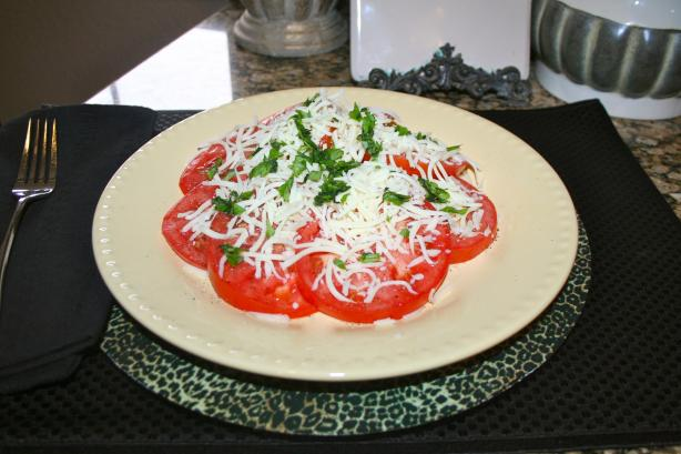 Basil Tomato Mozzarella Salad. Photo by bethroan