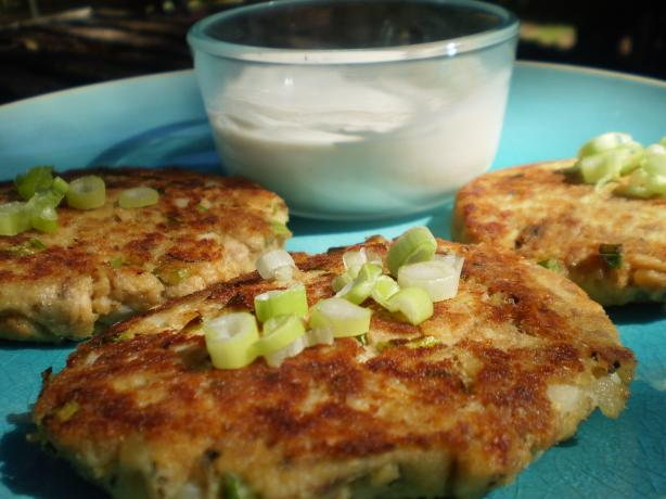 Salmon Cakes With Ginger-Sesame Sauce. Photo by breezermom