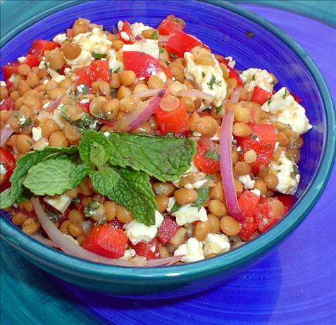 Lebanese Lentil Salad. Photo by Stardustannie