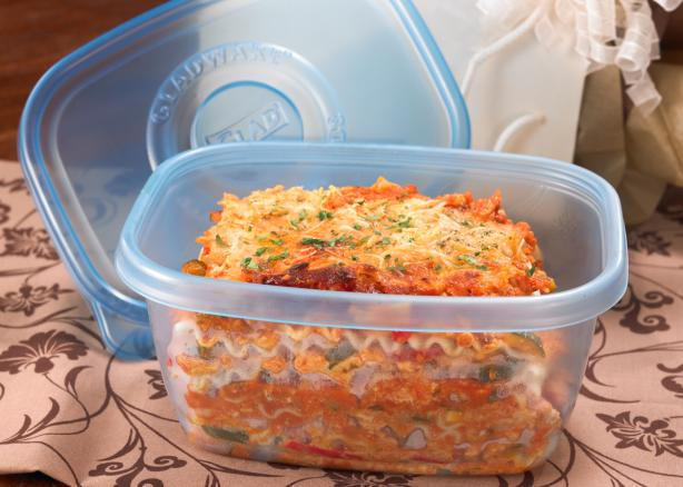 Chicken Vegetable Lasagna. Photo by Glad® FreezerWare