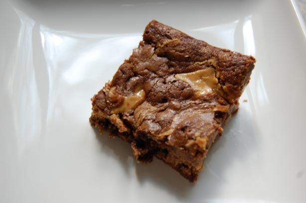 Natural Peanut Butter Swirl Brownies. Photo by thecookieadaychallenge