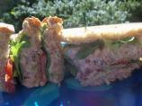 Salmon Club Sandwich