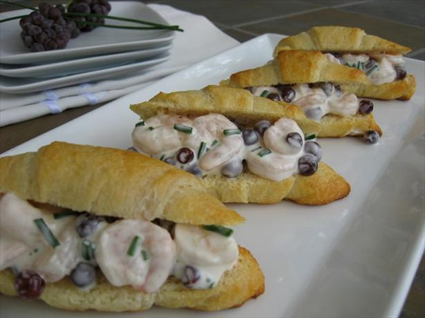 Champagne Grape and Shrimp Salad Sandwiches. Photo by ms_bold