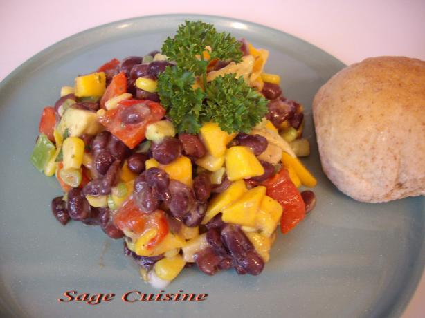 Black Bean,mango and Avocado Salsa Salad. Photo by Sage