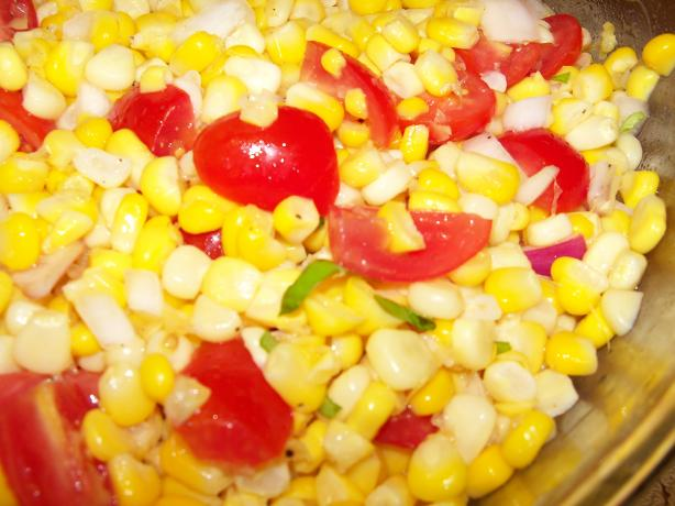 Fresh Corn and Tomato Salad. Photo by Becky in Wisconsin