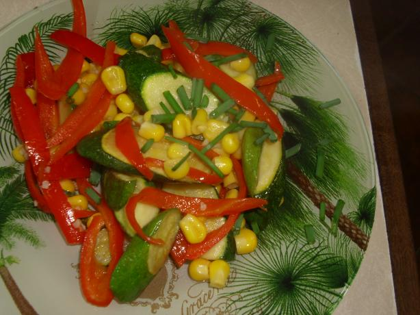 Quick Corn and Zucchini Saute. Photo by Karen Elizabeth