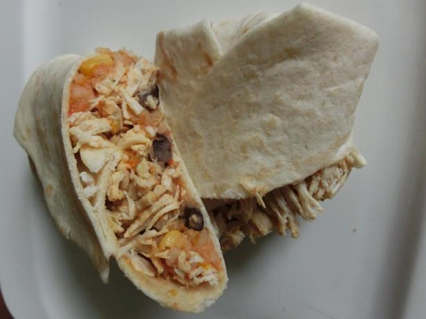 Restaurant-Style Light and Healthy Chicken Burrito. Photo by hxnnxh