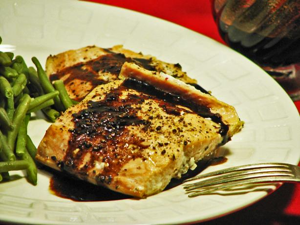 Balsamic-Glazed Cracked Pepper Salmon - Clean Eating. Photo by Kerfuffle-Upon-Wincle