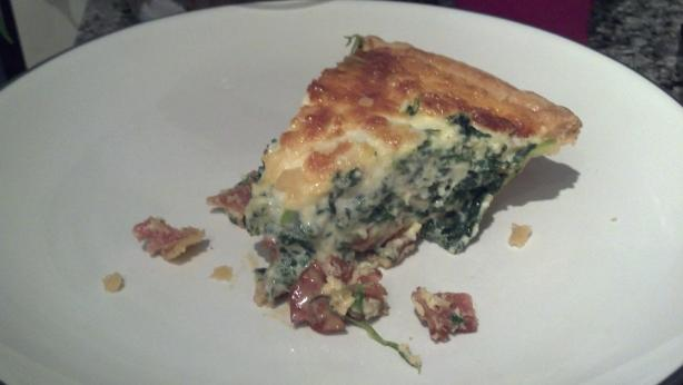 Spinach & Bacon Quiche. Photo by amcarroll