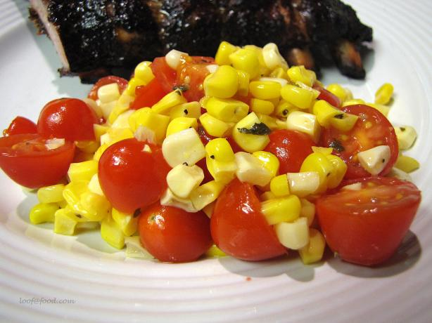 Corn and Cherry Tomato Salad. Photo by loof