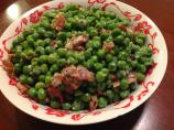 Peas With Mushrooms, Bacon & Cream
