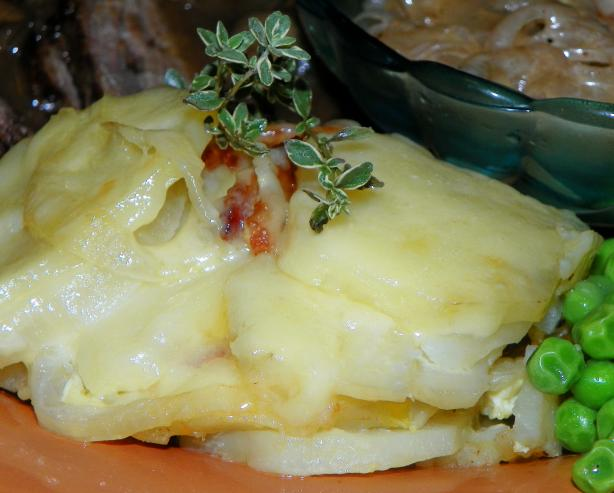 Aragonese Potatoes Au Gratin (Patatas Gratinadas De Aragon). Photo by Baby Kato