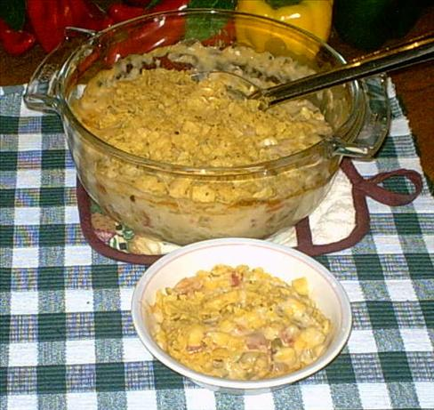 Hominy Cheese Casserole. Photo by GrandmaG
