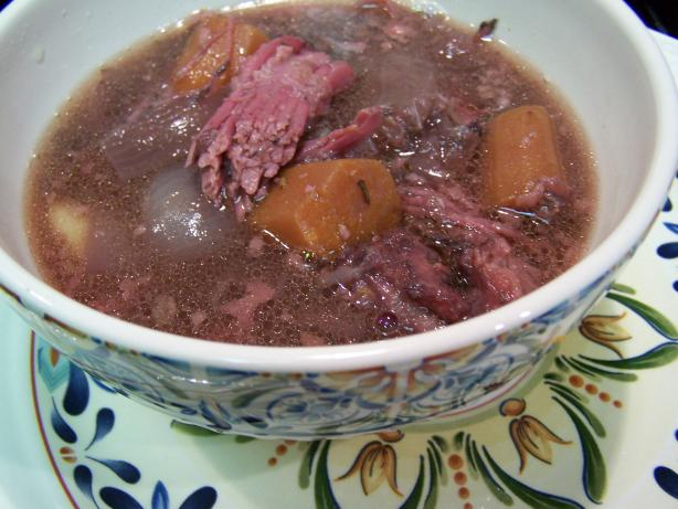 New Zealand Corned Beef Hot Pot. Photo by Chef PotPie