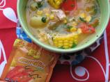 Peruvian-Style Corn, Pepper and Chicken Soup